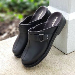 Clarks Patty Lorene Leather Slide Mule :2049